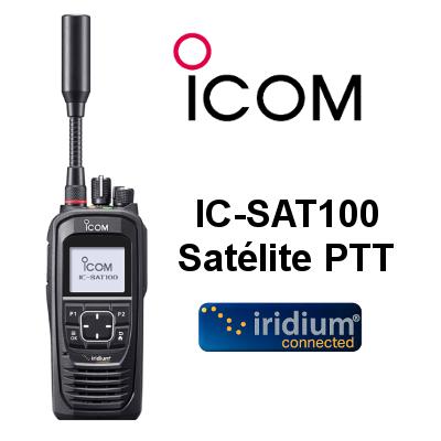Radio ICOM IC-SAT100 SATÉLITE PTT con GPS, BT, IP67