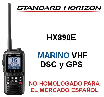 Walkie STANDARD HORIZON DE MARINA HX890E con GPS y DSC clase H