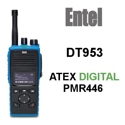 Walkie Entel PMR446 DT953 ATEX Digital de 256 canales