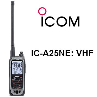 Walkie ICOM DE BANDA AÉREA IC-A25NE con GPS, BT y VOR