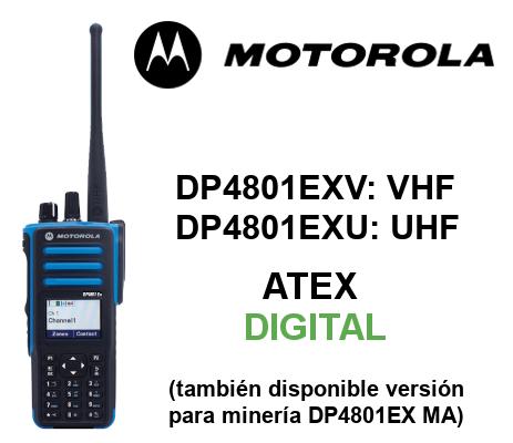 Walkie MOTOROLA ATEX DIGITAL DP4801EX y DP4801EX MA
