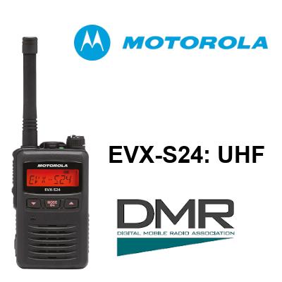 Walkie MOTOROLA DIGITAL EVX-S24 UHF DE 256 canales