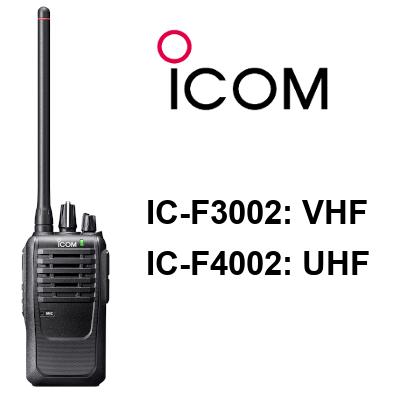 Walkie ICOM IC-F3002 / IC-F4002